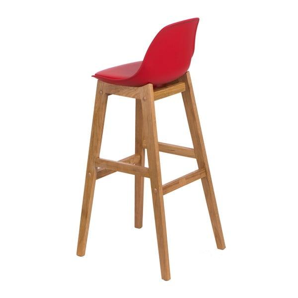 Barová stolička D2 Norden Wood, červená