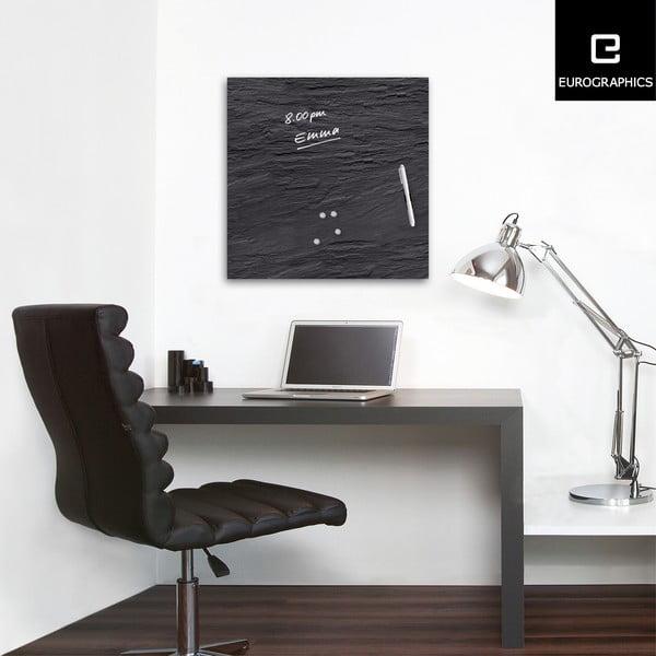 Magnetická tabiule Eurographics Black Slate, 50 x 50 cm