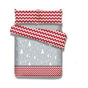 Flanelové obliečky na jednolôžko DecoKing Christmas Mess, 140 × 200 cm