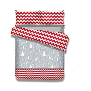 Flanelové posteľné obliečky AmeliaHome Christmas Mess, 135×200 cm