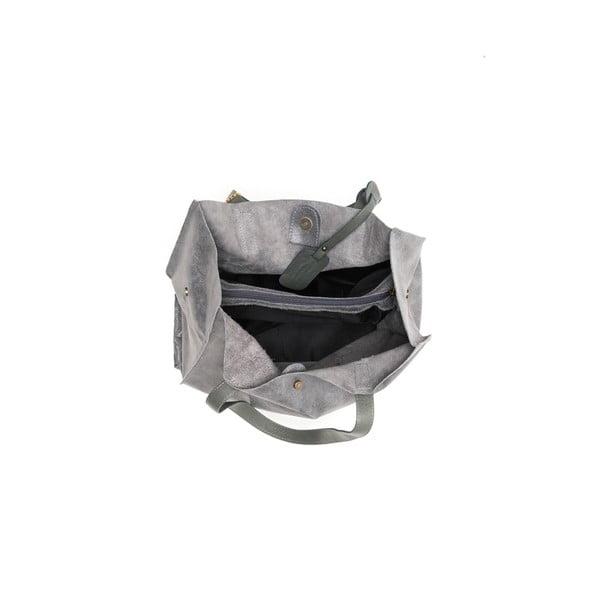 Kožená kabelka Renata Corsi 892 Grigio, sivá
