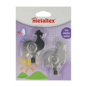 Sada 2 ks háčikov v tvare kohúta Metaltex, dĺžka 8 cm