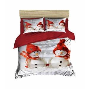 Vianočné obliečky na dvojlôžko s plachtou Paolo, 160×220 cm