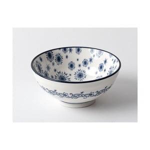Biela miska s modrým vzorom Madame Coco, ⌀ 12 cm
