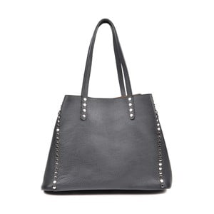 Čierna kožená kabelka Isabella Rhea Radana