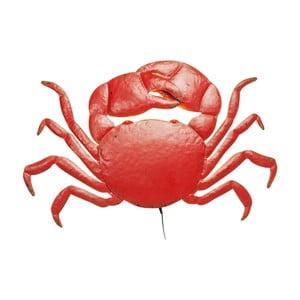 Červené nástenné LED svietidlo v tvare kraba Kare Design Crab