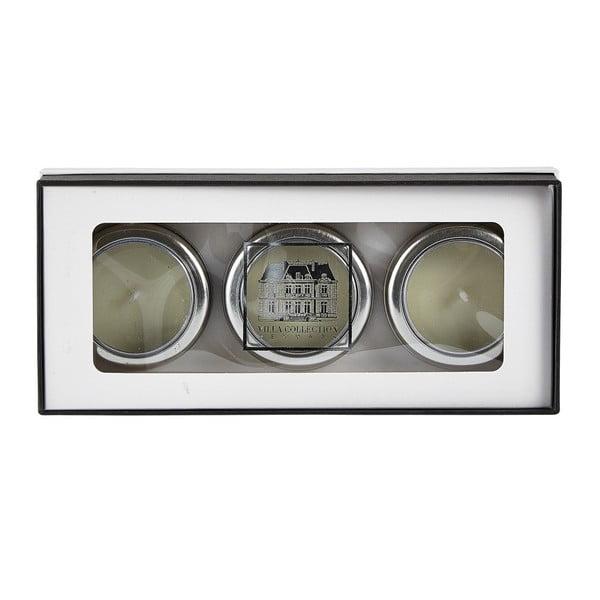 Sada 3 sviečok s vôňou bieleho čaju a zázvoru Villa Collection
