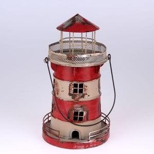 Kovový závesný svietnik Red Lighthouse, 24 cm