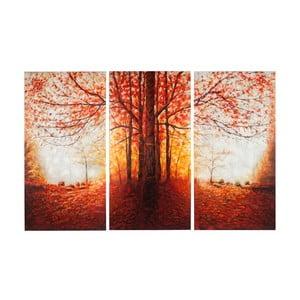 Ručne malovaný obraz J-Line Tree Autumn, 50x100 cm