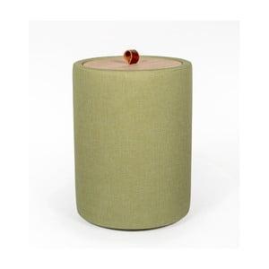 Odkladací stolík v zelenej farbe s odnímateľnou doskou z dubového dreva Askala Ibisco, ⌀ 36 cm