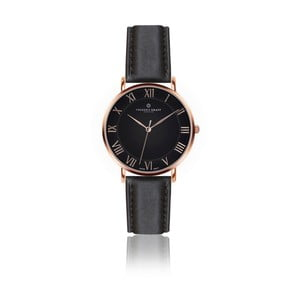 Pánske hodinky s čiernym remienkom z pravej kože Frederic Graff Rose Dom Black Leather