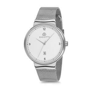 Pánske hodinky striebornej farby z antikoro ocele Bigotti Milano Lukas