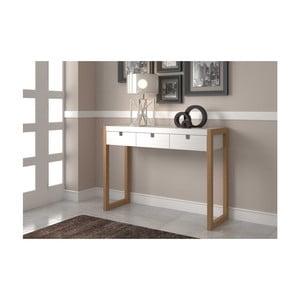 Biely konzolový stolík zborovicového dreva SOB Derrick