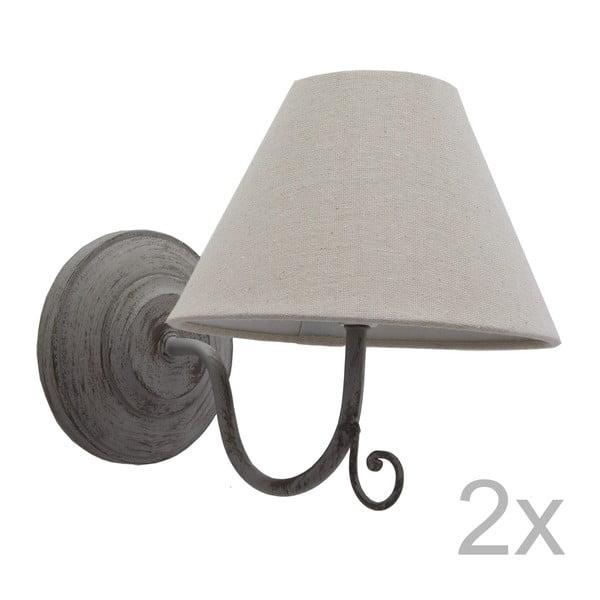 Sada dvoch sivých nástenných svetiel Bolzonella
