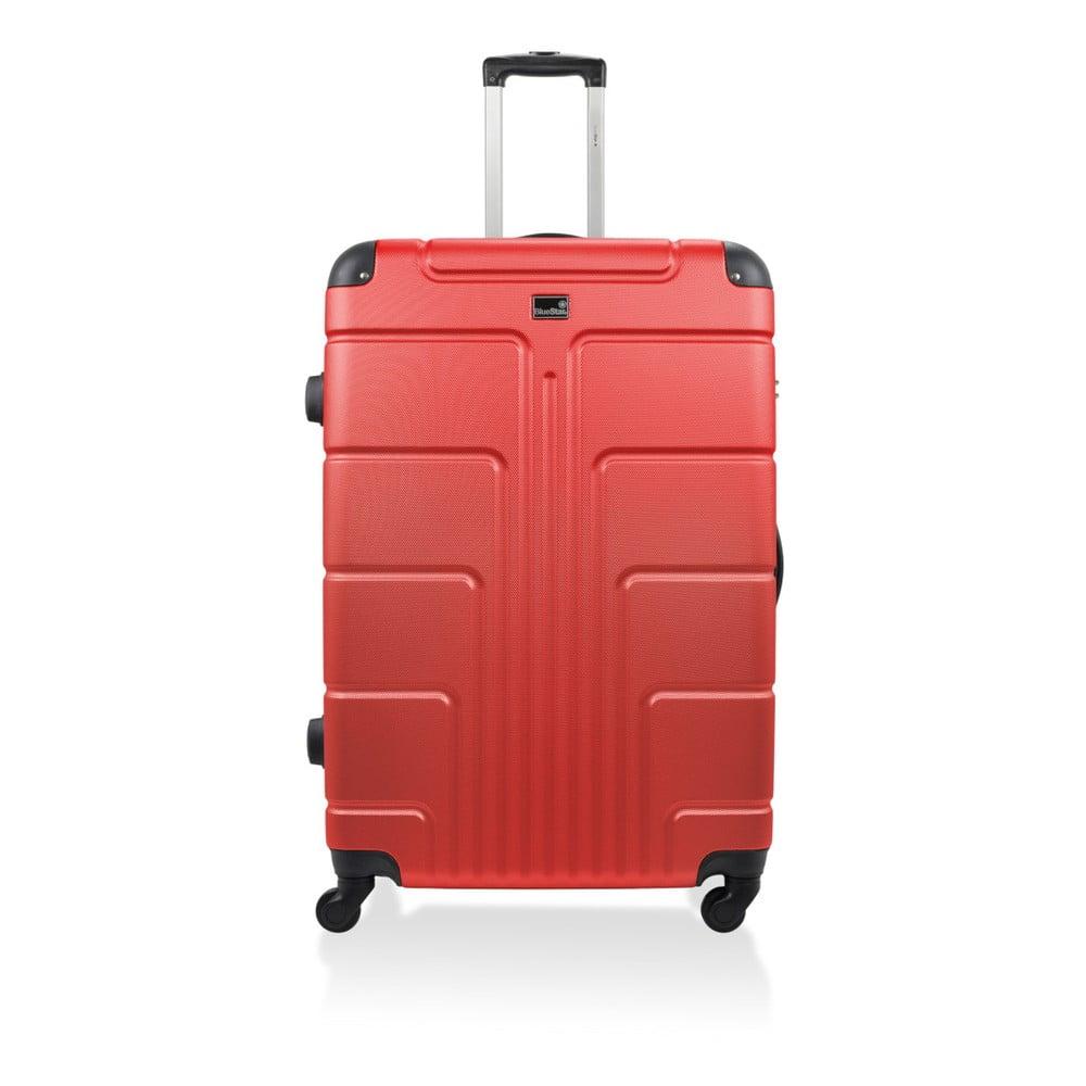 Červený kufor na kolieskach Blue Star Ottawa, 60 l
