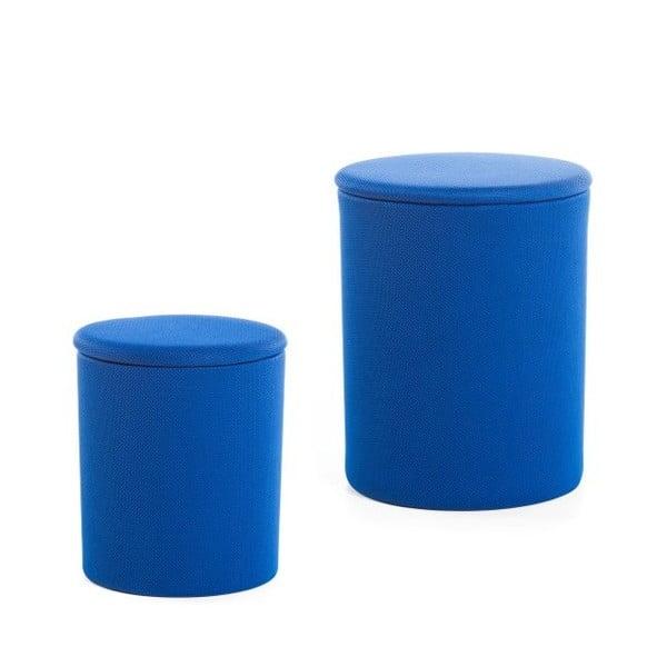 Sada 2 taburetiek The Drum Dazzling Blue