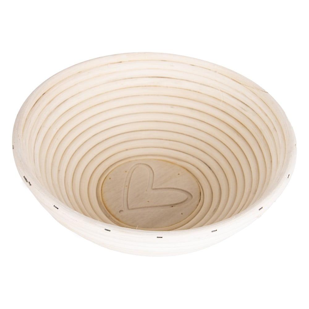 Ratanová ošatka na chleba Orion Srdce, ⌀ 21 cm