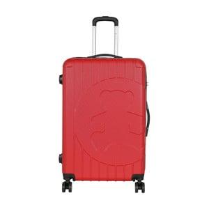 Červený cestovný kufor LULU CASTAGNETTE Philip, 107 l
