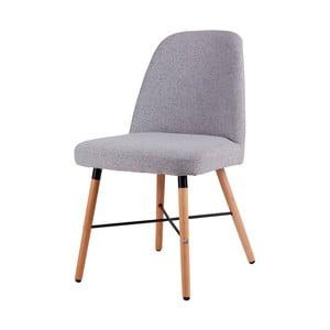 Sivá jedálenská stolička s podnožím z bukového dreva sømcasa Kalia