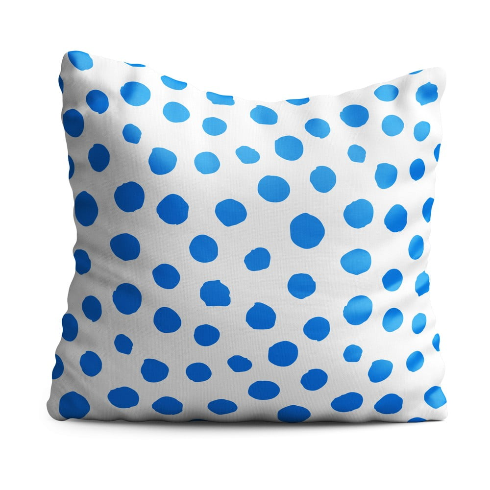 Detský vankúš OYO Kids Blue Dots, 40 x 40 cm
