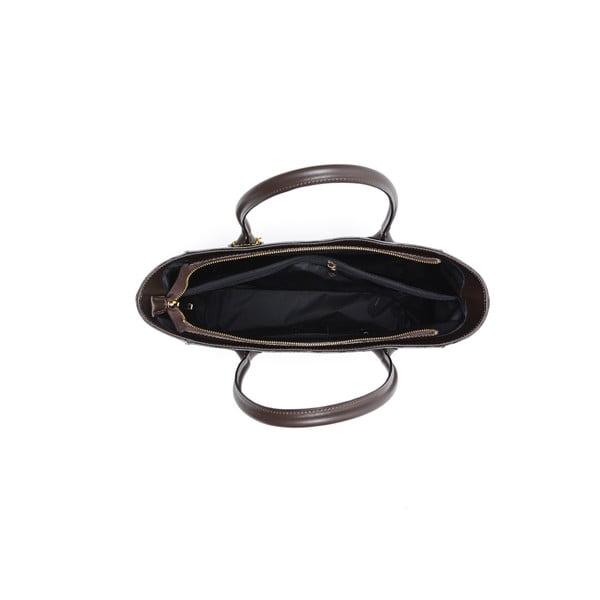Kožená kabelka Cuco, hnedá