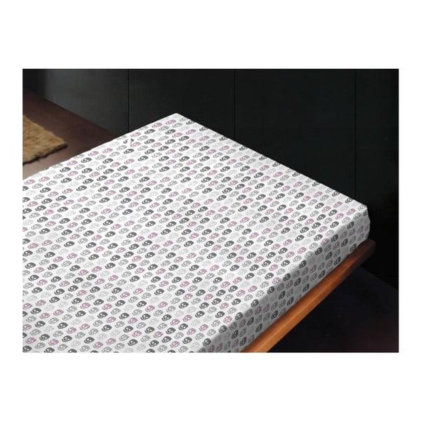 Neelastická posteľná plachta Skulls Fresa, 180x260 cm