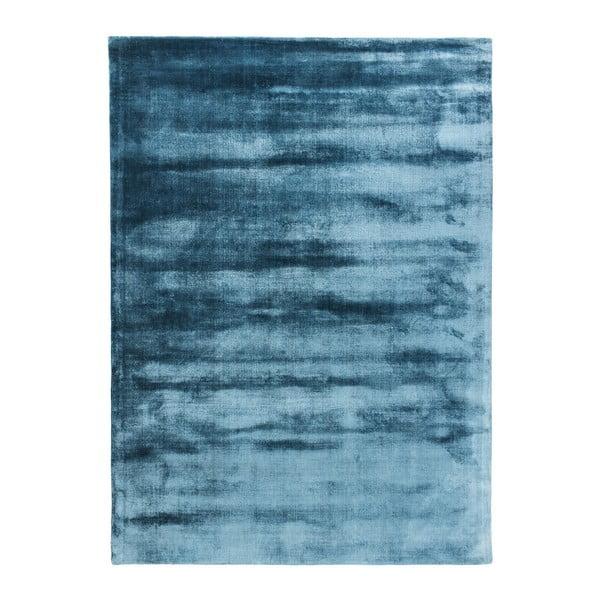 Modrý ručne tkaný koberec Linie Design Lucens, 140x200cm