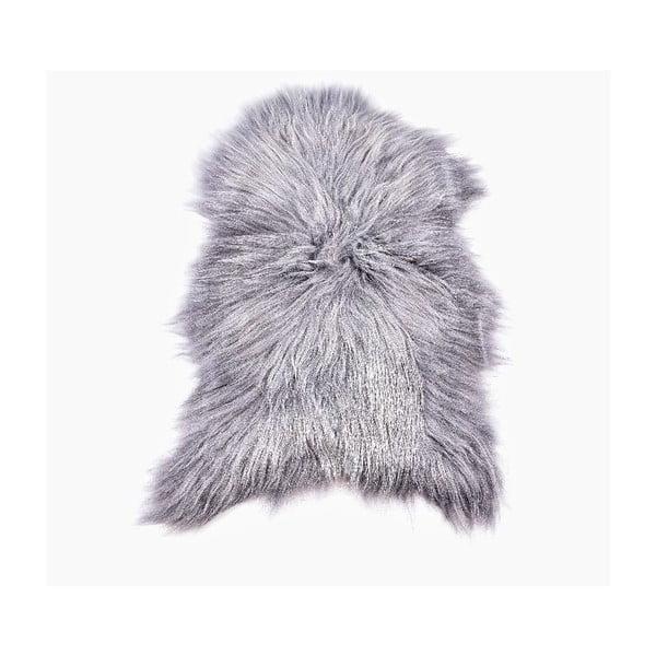 Ovčia kožušina s dlhým vlasom Grey, 100x60cm