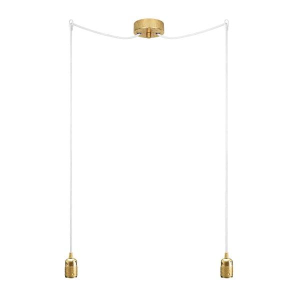 Dvojitý závesný kábel Uno, zlatá/biela/zlatá
