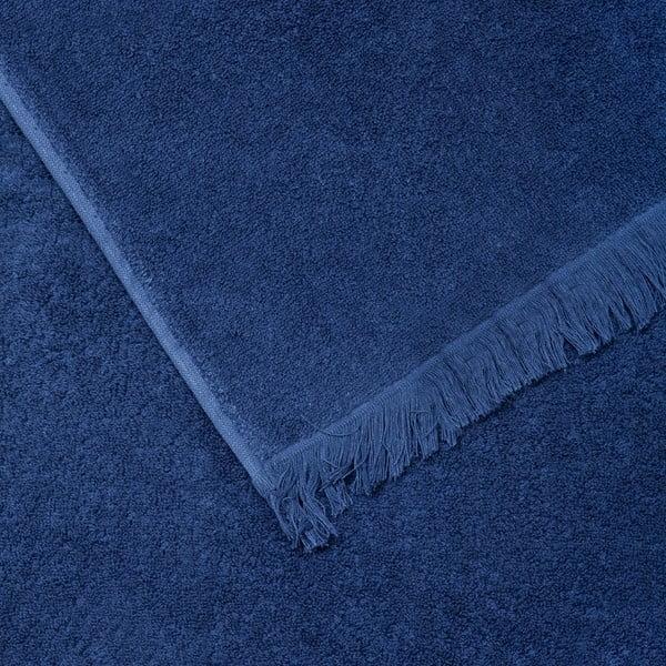 Set 2 modrých bavlnených uterákov a2osušiek CasaDiBassi Bath