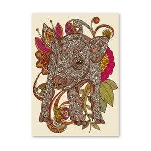 Autorský plagát Paisley Piggy od Valentiny Ramos