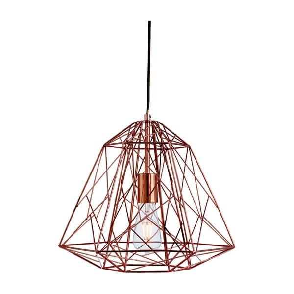 Stropné svietidlo Searchlight Geometric Cage, medená