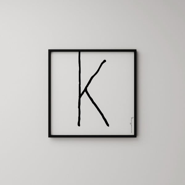 Plagát Litera K, 50x50 cm