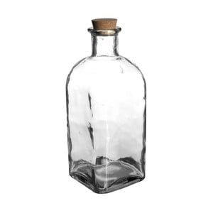 Fľaša z recyklovaného skla s korkovým uzáverom Côté Table Calisse, dĺžka37cm