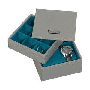 Sivý box na šperky a hodinky Ted Baker Ash