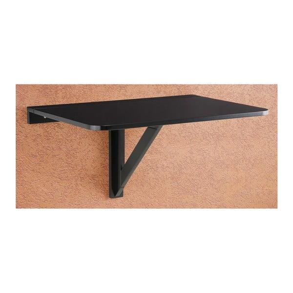 Čierny skladací stôl na stenu Støraa Trento, 41×80cm