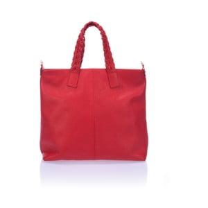 Červená kožená kabelka Lisa Minardi Elisa