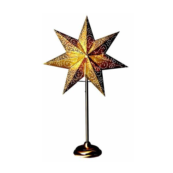 Svietiaca hviezda v zlatej farbe so stojanom Best Season Antique Gold, 55 cm