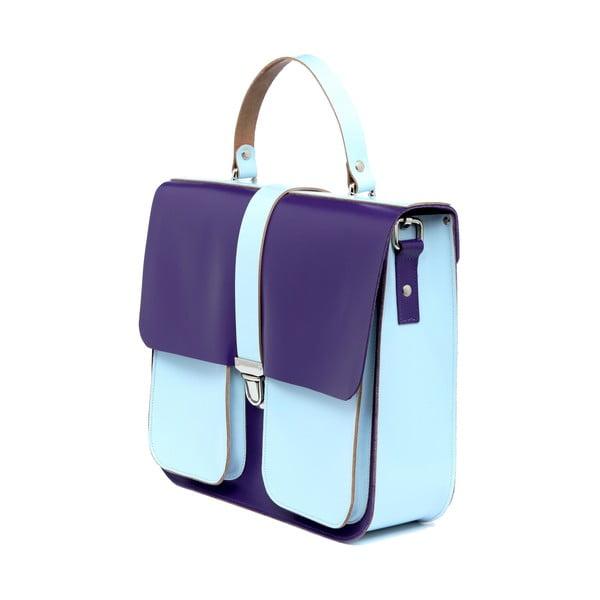 Kožená kabelka Onslow Purple/Blue XL