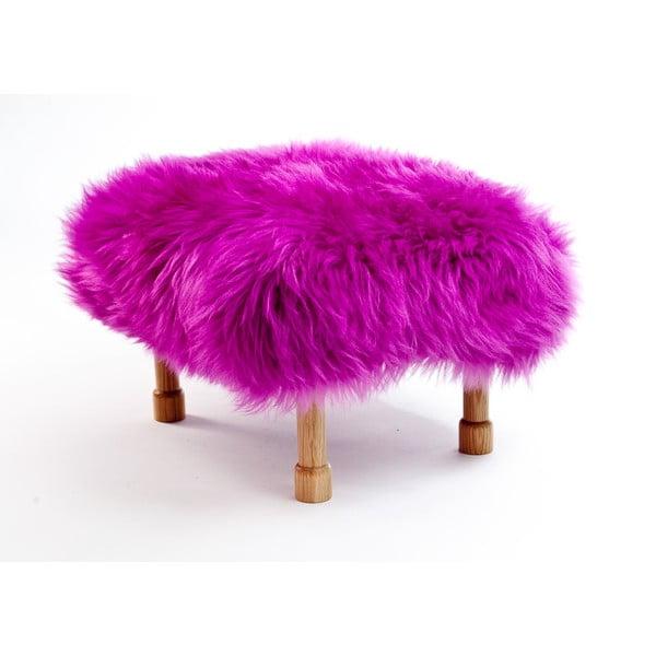 Stolička z ovčej kože Dilys Cerise
