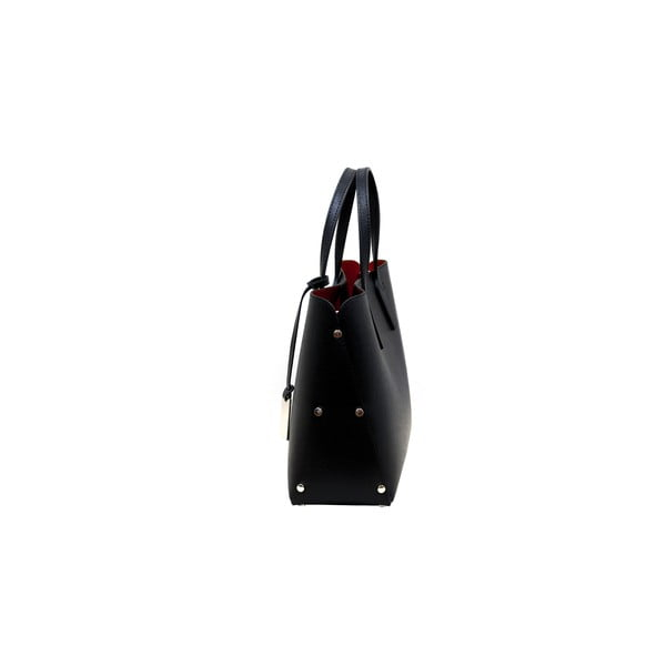 Čierna kabelka z pravej kože Andrea Cardone Dettalgio