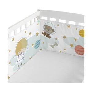 Textilný mantinel do postieľky Happynois Astronaut, 210x40cm