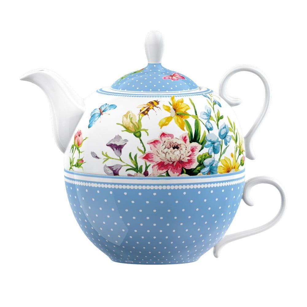 Porcelánová šálka s kanvičkou Creative Tops English Garden