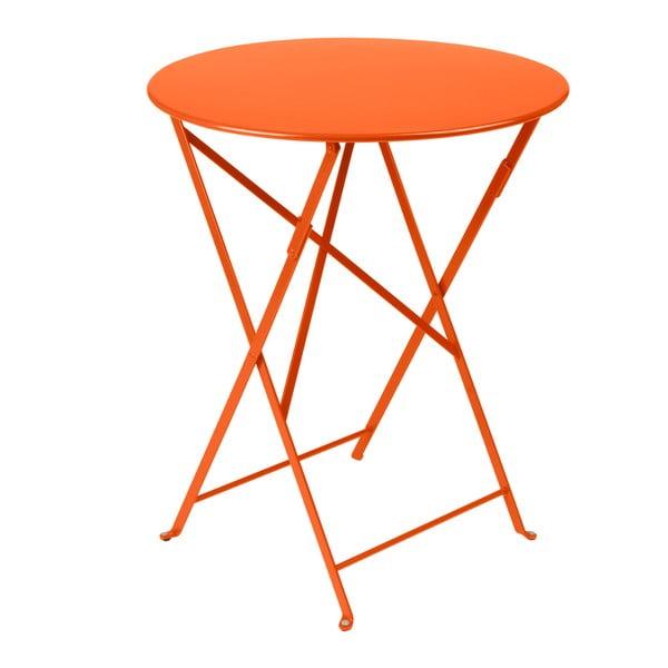 Oranžový skladací kovový stôl Fermob Bistro
