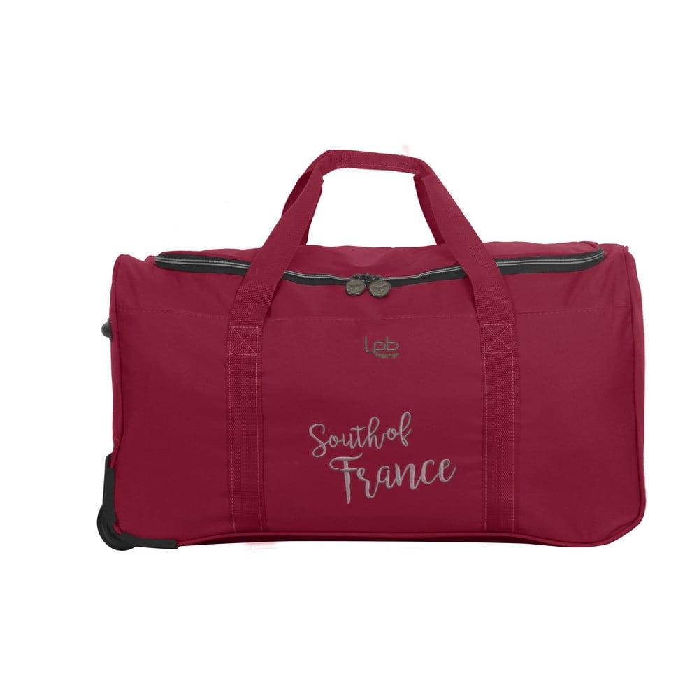 Červená cestovná taška LPB Mila, 61 l