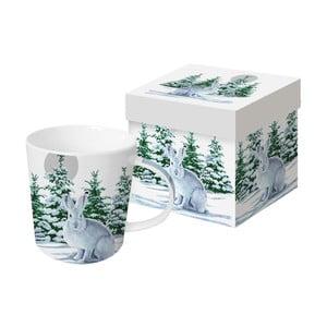 Porcelánový hrnček s vianočným motívom v darčekovom balení PPD Snow Rabbit, 350 ml