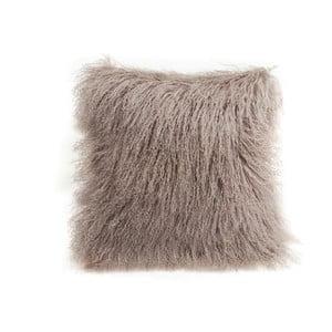 Béžový vlnený vankúš z ovčej kožušiny Auskin Chua, 35×35 cm