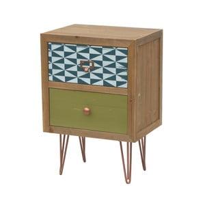 Príručný stolík z jedľového dreva so zásuvkami Livin Hill Portofino