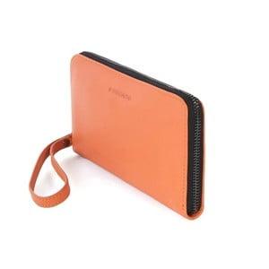 Oranžová listová kabelka z talianskej kože Tucano Sicuro