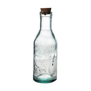 Sklenená fľaša z recyklovaného skla na mlieko Ego Dekor Farma, 1 l